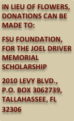 IN LIEU OF FLOWERS, DONATIONS CAN BE MADE TO: